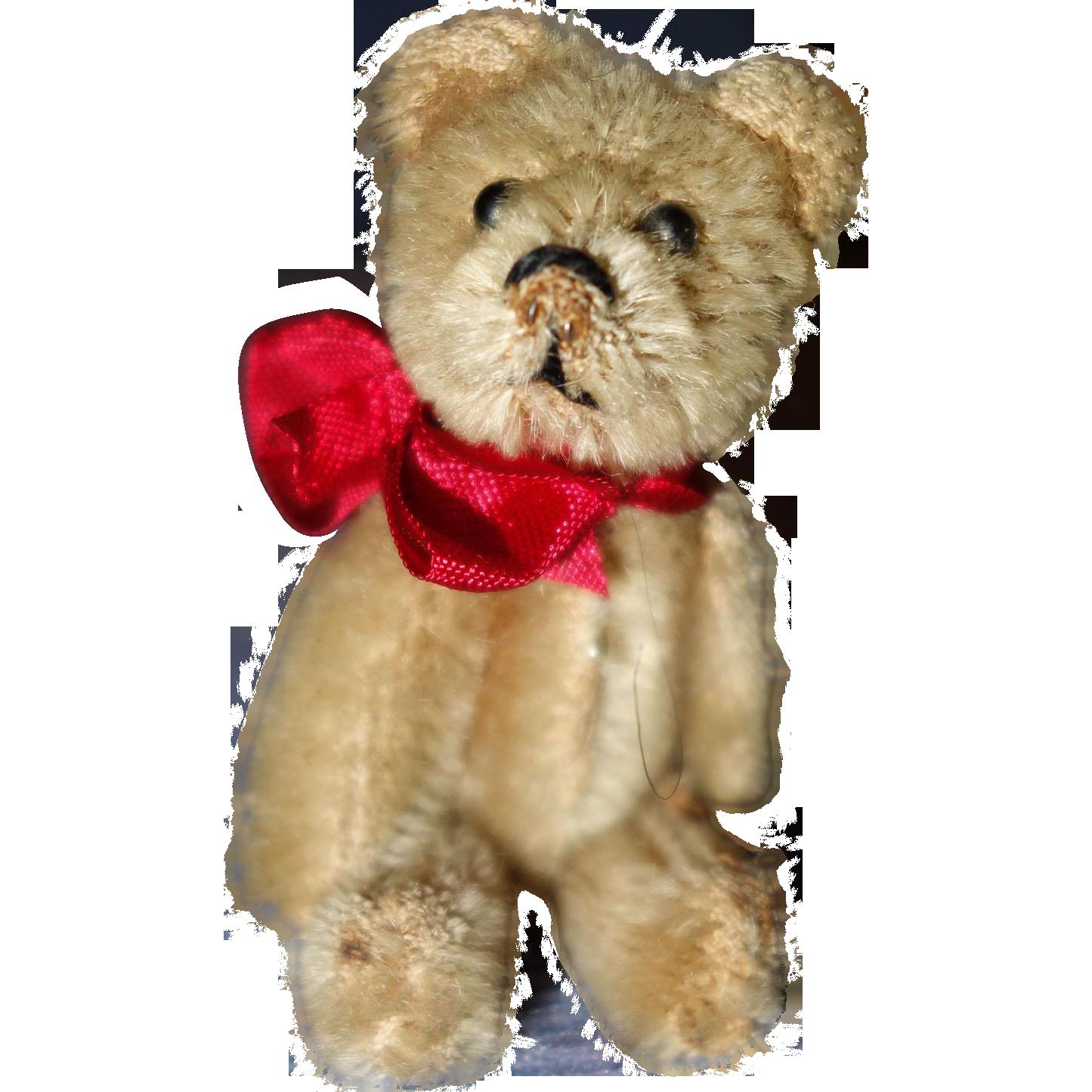 Schuco Teddy Bear Mohair 3 1/2 inches