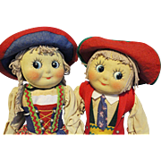 Muschi Googly German Cloth Dolls