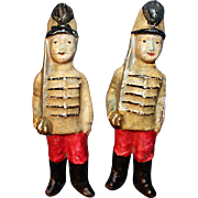 Early Paper Mache Soldiers Germany  1890