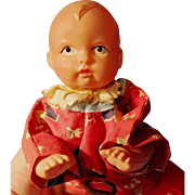 Celluloid Windup Baby Doll Working all original