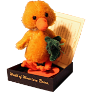Waddles Duck with Green Teddy Bear