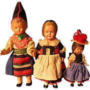 German Celluloid Dolls All Factory Original