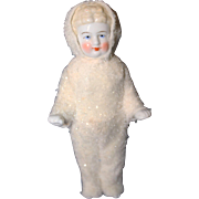 Frozen Charlotte China dressed as  Snow Baby