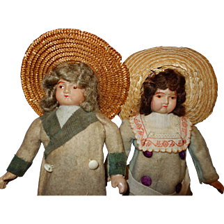 German Celluloid Doll Pair