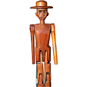 Folk Art Jumping Man all wood