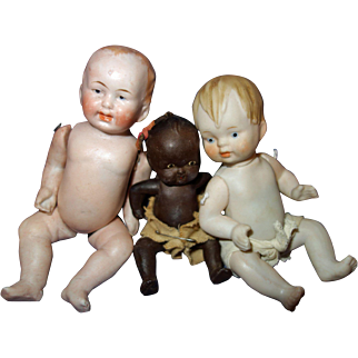 3 All Bisque Baby Dolls