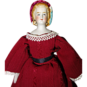 Empress Eugenie Petite Doll with molded hat and snood