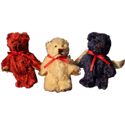 3 Gund Tiny Teddy Bears