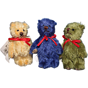 3 Gund Tiny Teddy Bears  Color coordinated