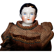 Early China Doll with very short Hairdo