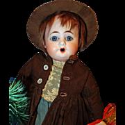 Unusual Singing Heubach 1900 Bisque Doll