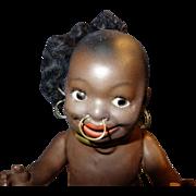 Heubach Kopplesdorf Black Bisque Doll marked 463