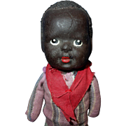 Black Bisque Doll on Cloth Body