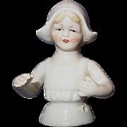 Dutch Little Girl Half Doll Germany