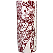 Bjorn Wiinblad, Nymolle, Duet Vase in Red & White