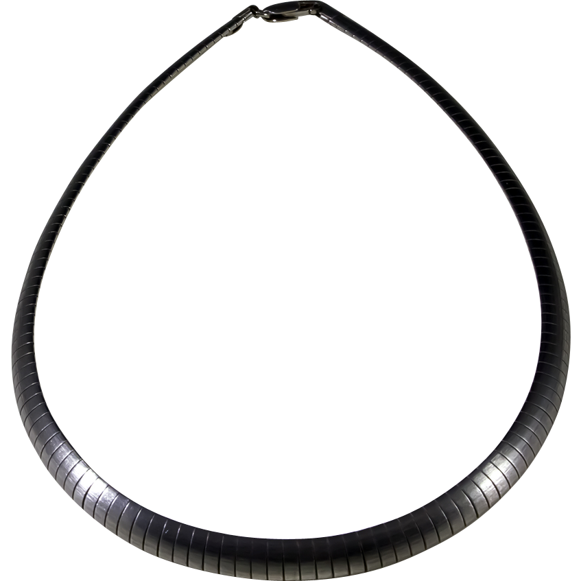 herringbone sterling silver necklace from denmark from