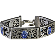 Dyrberg Kern Bangle Bracelet with Blue Stones