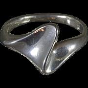 Sterling (.925) Silver Modernist Danish Designed Ring Size 6