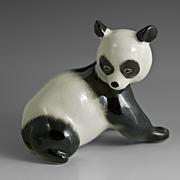 Lomonosov Russian Panda Figurine