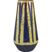 Michael Andersen & Son Marianne Starck Persia Glaze Vase in Yellow, Blue and Red