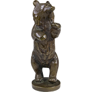 Rare Bronze Figurine by Svend Lindhart, Standing Bear 1938