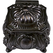 Jugendstil Small Metal Trinket Box in Pewter Grey