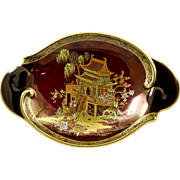 Carlton Ware Rouge Royale Chinoiserie Dish, 'New Mikado' pattern