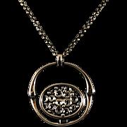 Finnish  Brass Pendant Necklace Designed By Jorma Laine