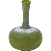 Miniature Olive-Green cabinet Vase by Gunnar Nylund for Rorstrand