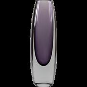 Strombergshyttan Tall Glass Sommerso Vase