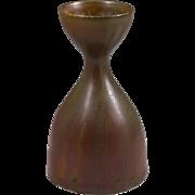 Carl Harry Stalhane, Rorstrand, Sweden Oxsblood  Haresfur Glaze Cabinet Vase w/Cup Top