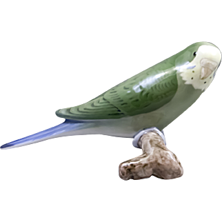 Parakeet/Budgie Figurine From BIng & Grondahl of Denmark