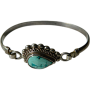 Vintage Sterling silver with Turquoise Bracelet