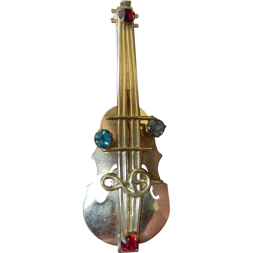 Lovely 1930's pin- Cello