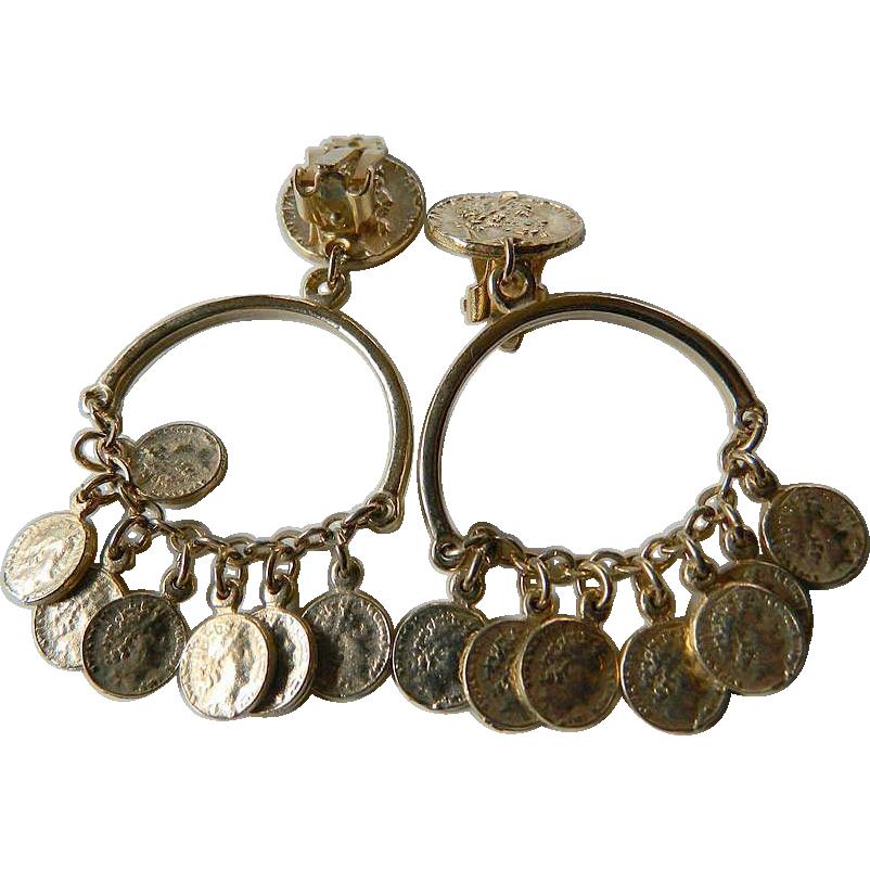 Gypsy- dangling Coin- Earrings