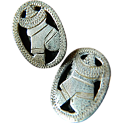 Sterling silver- Mexican theme-cuff links