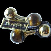 Elegant- signed Gideon -Tigers eye Cuff links- Original tag