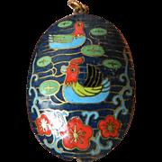 Inlay-enameled Oriental pendant