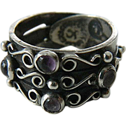 Sterling-amethyst- Mexican made- ring