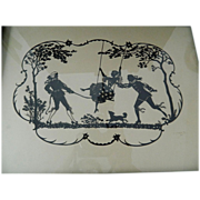 Exquisite- Silhouette picture- Artist signed