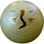 "Beautiful-marked ""Artists proof""- Lundberg glass paper Weight"