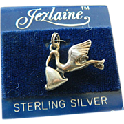 Sterling-stork and Baby-Charm