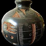 Amazing- Etched-signed Vase