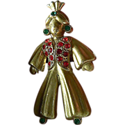 Vintage pin- jeweled- Genie