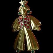 Vintage pin- jeweled- Genie