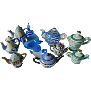 Mini-doll house-Glass & pottery Tea pots