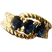 Sapphire -14k gold ring