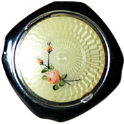 Very lovely enameled Vintage Evans compact