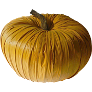 Large raffria type-Pumpkin center -display piece