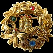 signed-Beatrix Christmas pin-rare